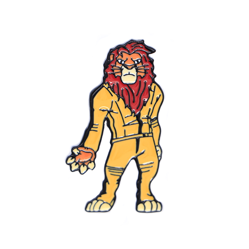 Lion King Brooches Creative Custom Enamel Pins For Boys Girls Lapel Pin Hat/bag Pins Denim Jacket Oil Drop Badge D168