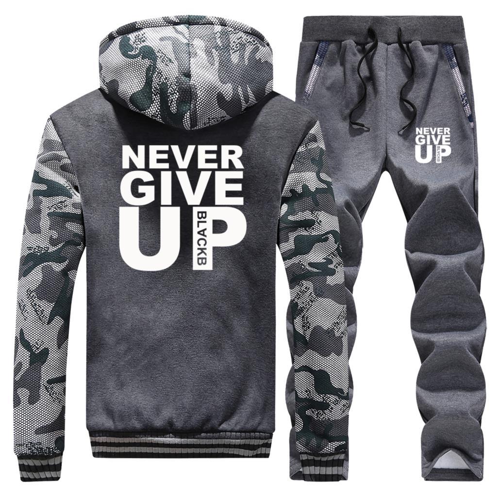 Fashion Heartbeat Number Pi Print Camo Sweatshirt Hoodies Pants Sets Man Casual Fleece Sportswear Sweatpants Harajuku Streetwear