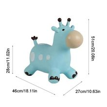 Inpany Bouncy Giraffe Hopper Inflatable Jumping Giraffe Bouncing Animal Toys M89C