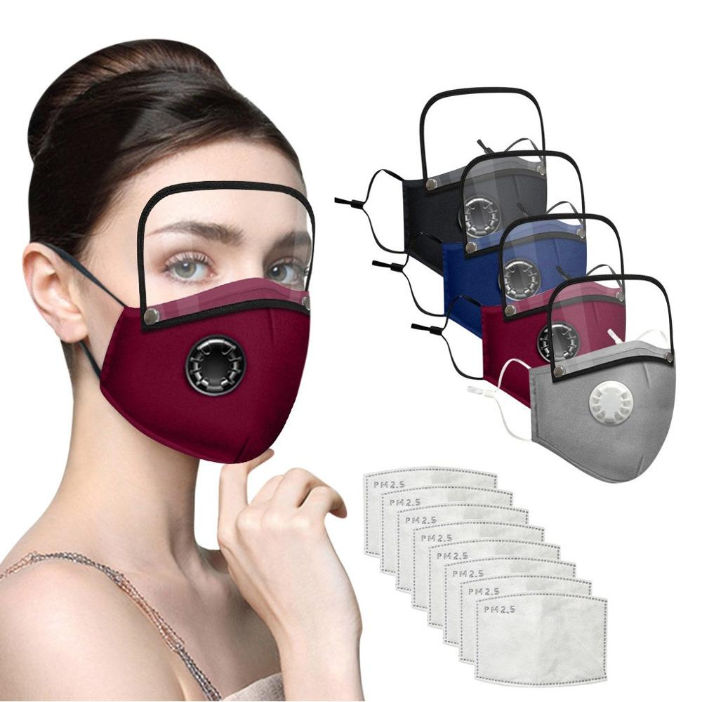Women Facemask Reusable Cotton dot print Stripe Face Scarf Face Maskswashable and Reusable Facemask