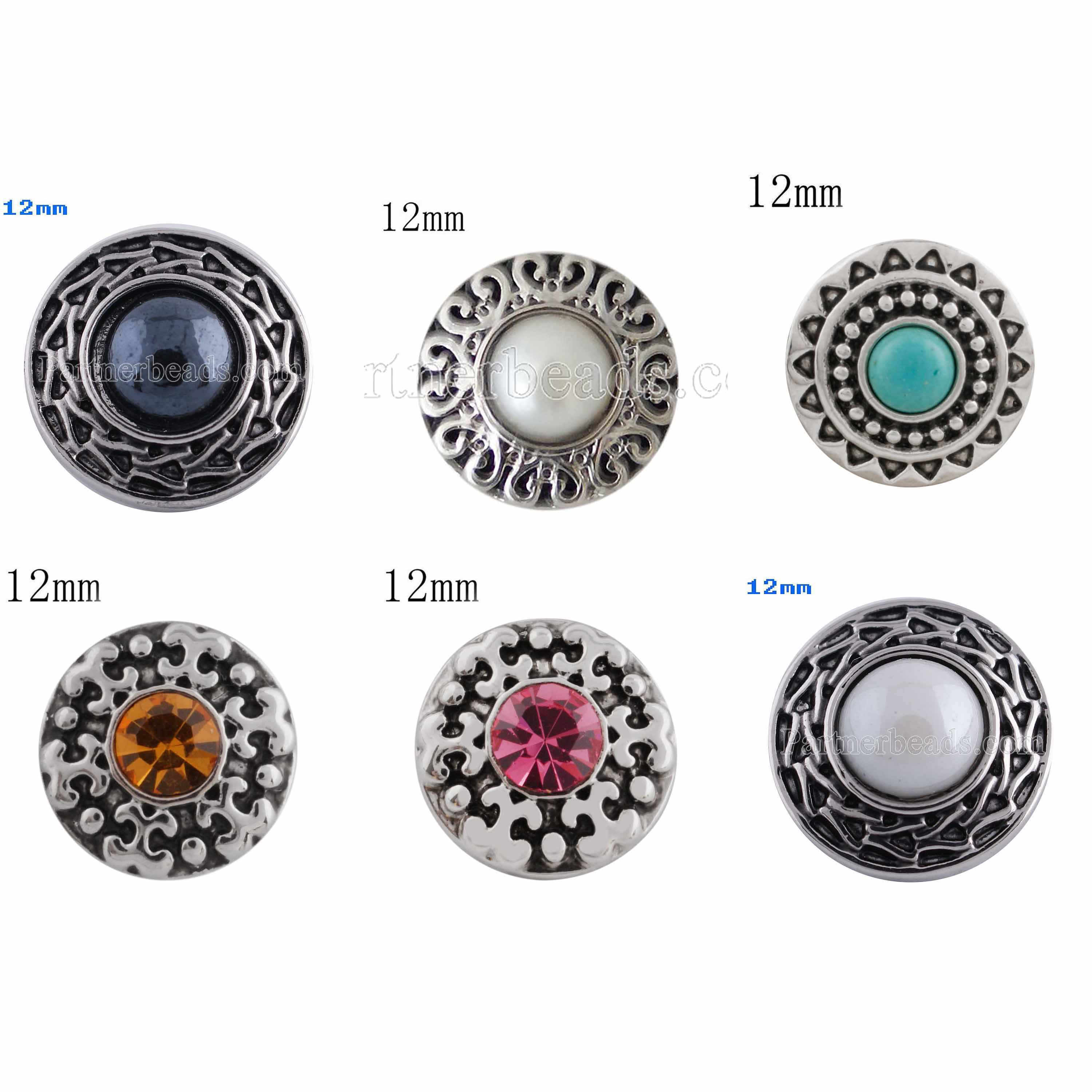 12MM round snap with yellow Rhinestone KS5166-S interchangeable snaps jewelry fit 12mm mini snap button jewelry