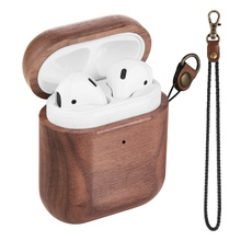 Wooden Case For AirPods Case For AirPods 2 Cover Nature Wood Original Handcrafted Protect Cover For Airpods Premium Leather Sewn