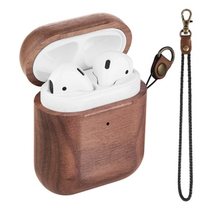 Image 1 - Wooden Case For AirPods Case For AirPods 2 Cover Nature Wood Original Handcrafted Protect Cover For Airpods Premium Leather Sewn