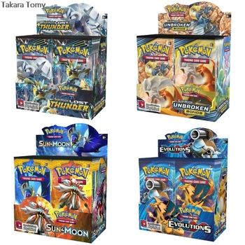 324pcs Pokemones cards Sun & Moon GX Team Up Unbroken Bond Unified Minds Evolutions Booster Box Collectible Trading Cards Game 1