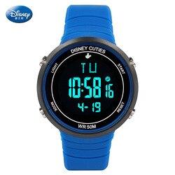 Disney zegarek dziecięcy chłopcy wodoodporny zegarek cyfrowy chłopcy dzieci oglądaj Alarm klamra tylne światło 5Bar Sport kompletny kalendarz