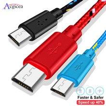 Cargador USB Universal para móvil, cable Micro usb Universal de 1m, 2m y 3m para Samsung, Xiaomi, Huawei