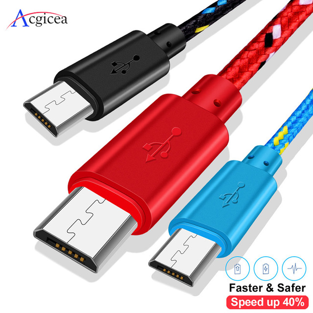 USB Charger 1m/2m/3m Micro usb cable for Samsung Xiaomi Huawei Charging for Android Mobile Phone usb charger Adapter Universal