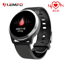 LEMFO Z03 PPG + ECG 1.22 Inch Round Smartwatch Men IP68 Waterproof Heart Rate Blood Pressure Monitor Wristwatch For The Aged(China)