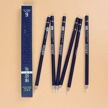 Резиновая ручка-ластик для карандашей nyони, резиновый наконечник, тип 6 шт./компл., высокоточный ластик для карандашей для манги, товары для р...