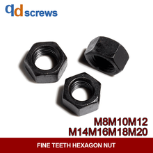8.8 Grade M8M10M12M14M16M18M20 High Strength Fine Teeth Hexagon Nut