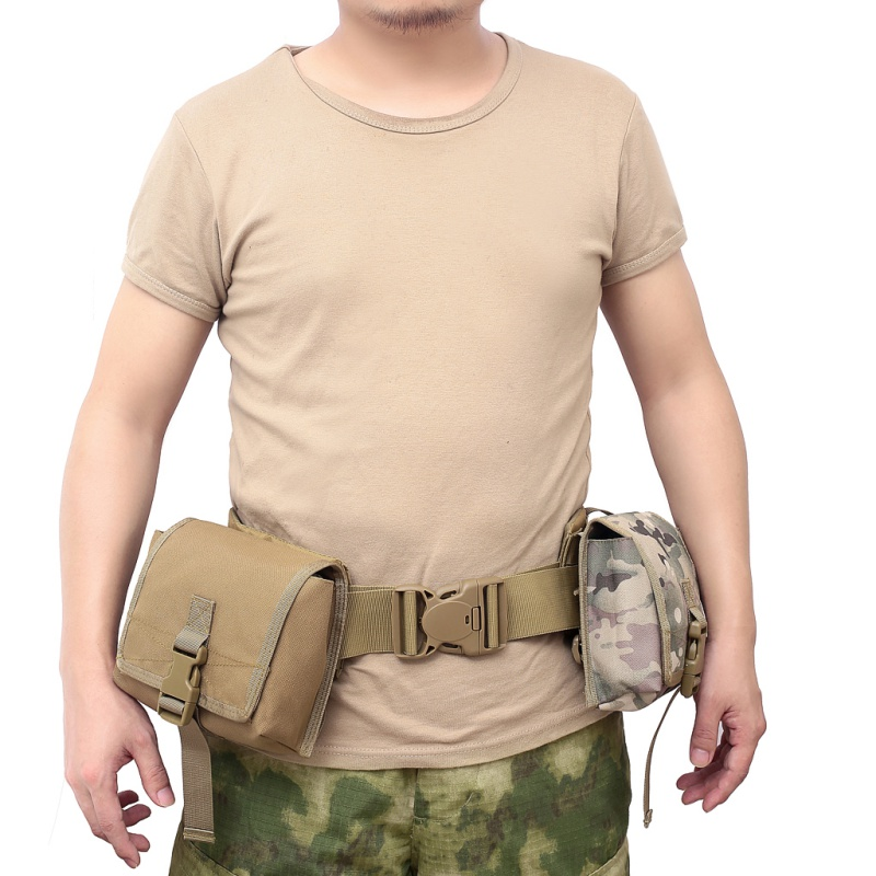 Tactical Double layer Phone Pouch Bag Molle Mobile Phone Pouch Money Tools Bag Belt Military Hunting Molle Fanny Bag Waist Bag|Hunting Bags| |  - title=