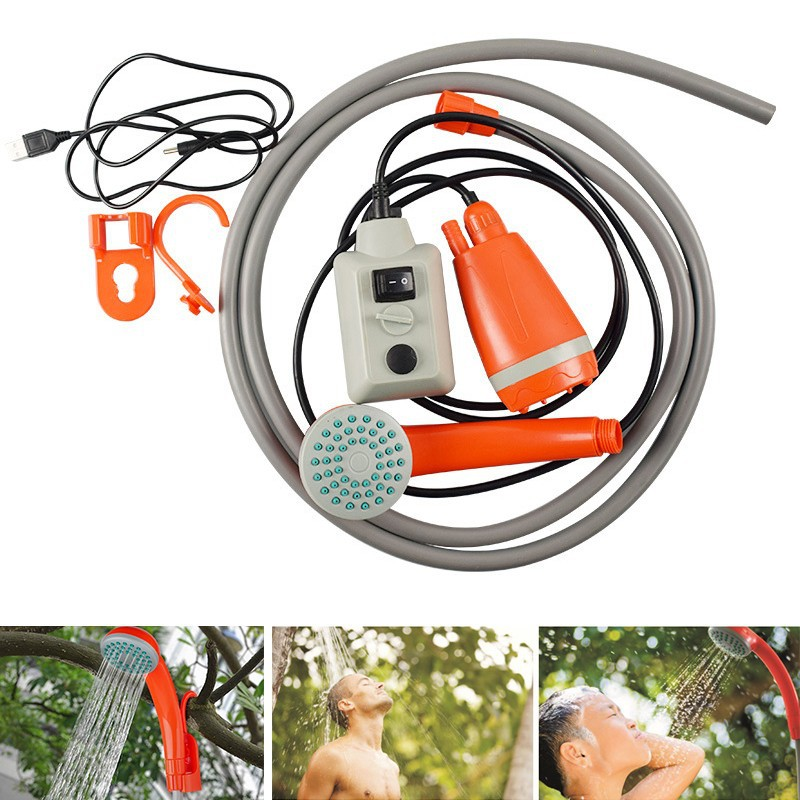 New Style Outdoor Shower Household Rechargeable USB Portable Multi Purpose Vehicle Shower With Switch Hot Sales