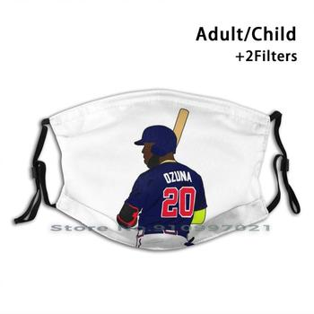 Marcell Ozuna Braves Dustproof Non-Disposable Mouth Face Mask Pm2.5 Filters For Child Adult Marcell Ozuna Ozuna Ozuna Braves image