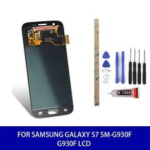 Lcd ekran Samsung Galaxy S7 SM G930F G930F Lcd ekran dokunmatik ekran Digitizer meclisi + araçları LCD ekran