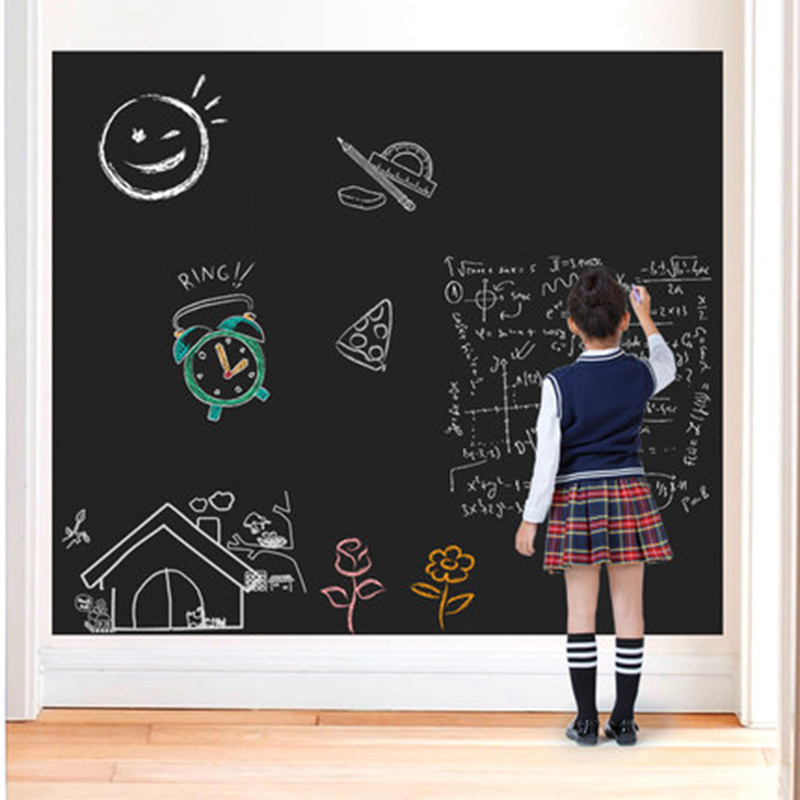 Teaching Graffiti Writing Practice Erasable Water-soluble Chalk Self-adhesive Wall  Blackboard Wall Size:550 * 600mm