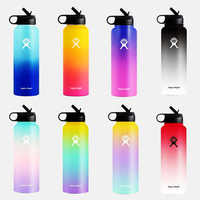 32oz/40oz Stainless Steel Water Bottle Hydro Flask Water Bottle Vacuum Insulated Wide Mouth Travel Portable Thermal Bottle