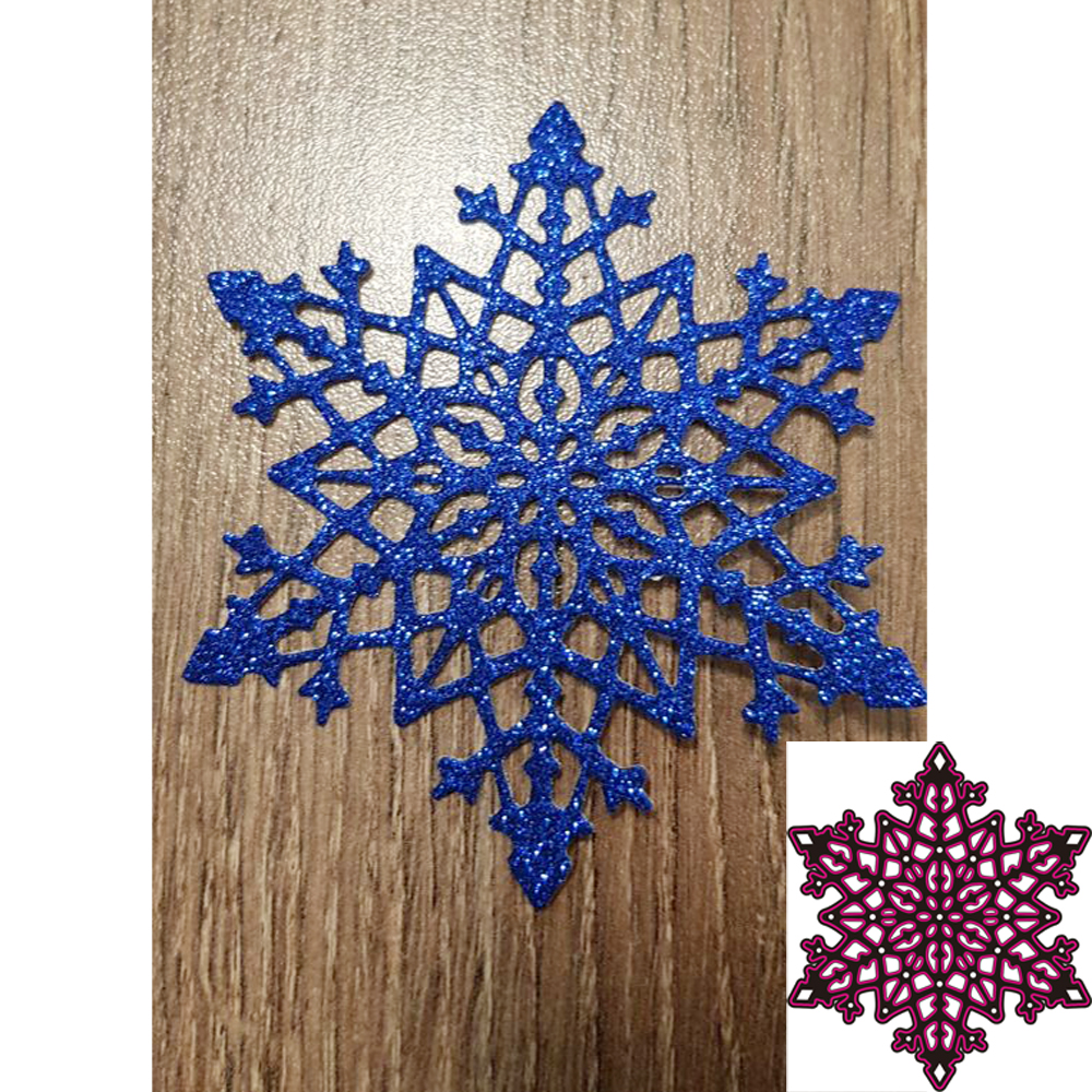 Christmas Snowflake Metal Cutting Dies Stencils for Scrapbooking Album Paper Card Diary Hand Craft Template Decorative