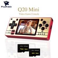 POWKIDDY-MINI consolas de videojuegos portátil Q20, Retro de código abierto, pantalla IPS de 2,4 pulgadas, PS1, para chico de Color