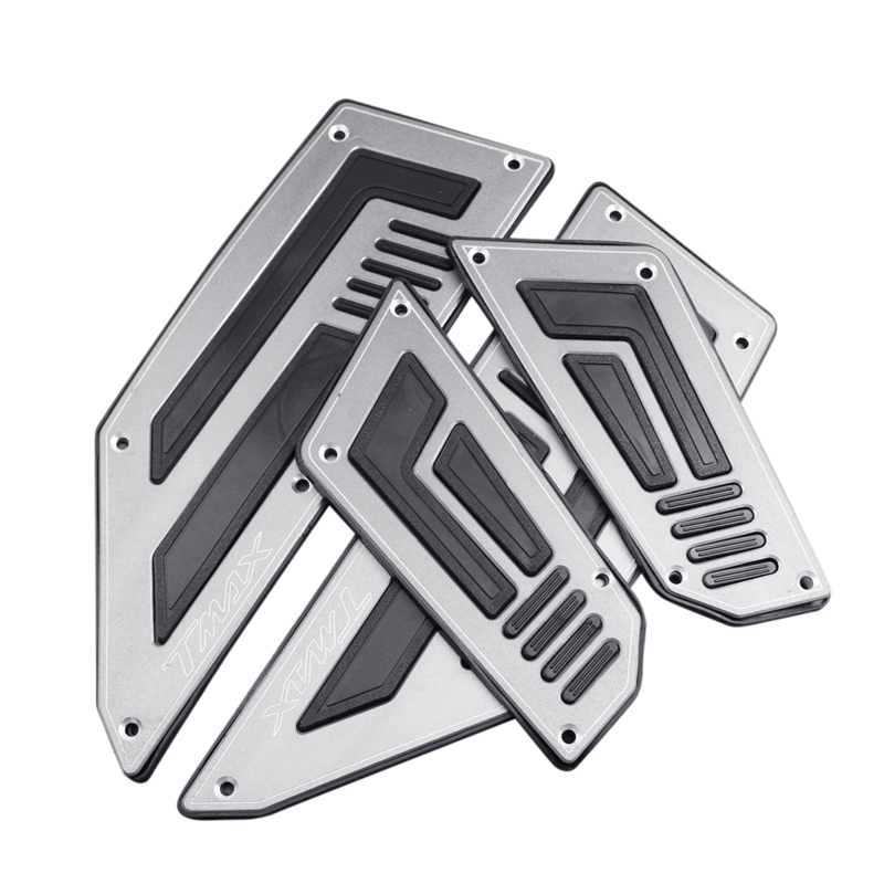 Pedals Feet Mats For Yamaha Tmax 530 2012 2013 2014 2015 Silver