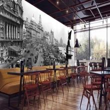 Envío Directo foto papel tapiz Londres calle Retro viejo nostálgico viejo cuadro Mural restaurante papel tapiz para salón