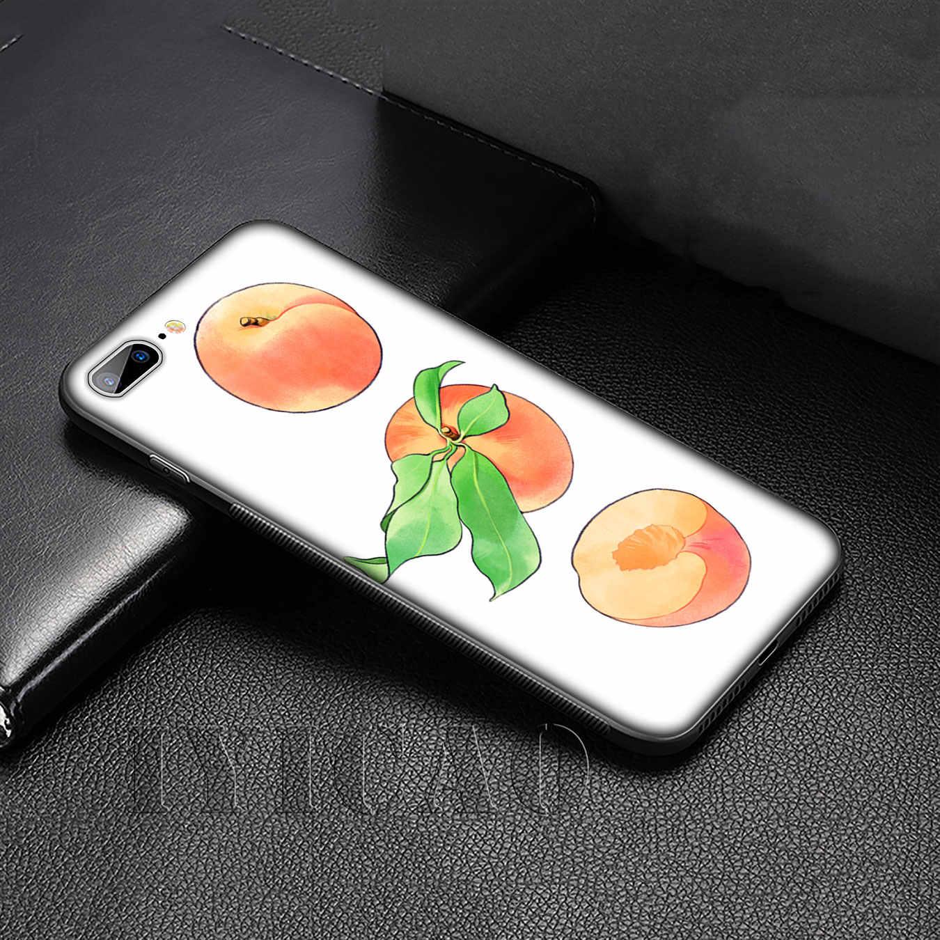 IYICAO Frutto di Pesco Molle Del Silicone Della Copertura di Caso per Huawei P30 P20 Pro P10 P9 Lite Mini 2017 2016 P di Smart Z Più 2019