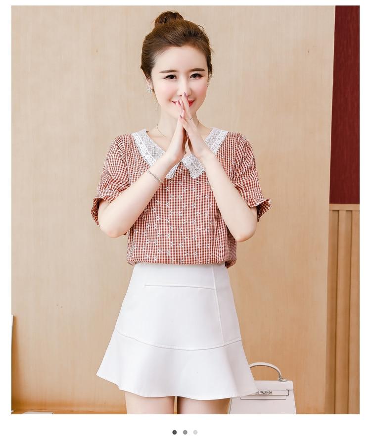 New Women White  Sleeve Shirt Dress Summer Fashion O Neck Woman Casual Clothing Tops