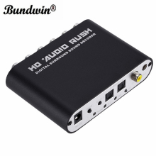 Bundwin 5.1CH audio decoder HD Audio Rush SPDIF Coaxial to RCA DTS AC3 Optical digital Amplifier Analog Converte amplifier