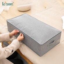 Linen Foldable Underbed Shoe Storage Organizer Box Wardrobe storage box large covered quilt clothes