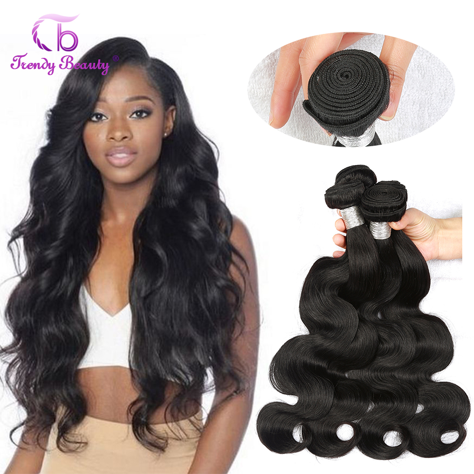 Body Wave Hair 100%  Bundles 8-30 Inches Double Weft  Can Buy 3/4 Pcs Non- Trendy Beauty 1