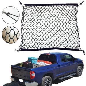 Filet élastique extensible en Nylon de maille d'organisateur de cargaison de stockage de bagage de coffre de voiture de soin automatique 70X70cm avec 4 crochets en plastique