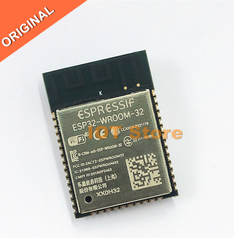 ESP32-WROOM-32 ESP-WROOM-32 ESP-32S ESP-DowdQ6 núcleo duplo 32 mbits spi flash uart modo smd esp32 módulo espressif original