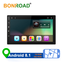 Bonroad 2DIN Car Multimedia Player HD Autoradio Andriod GPS Navigation Audio Radio Stereo For Cars Universal Video Player
