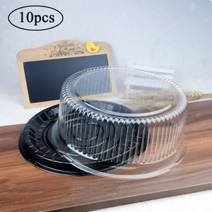10pcs 8 Inch Transparent Cake Box Plastic Cake Boxes And Packaging Transparent Clear Cupcake Muffin Dome Holder Cases Wedding(China)