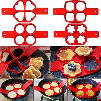 Egg Cooker Pancake Maker Mold Egg Shaper Omelette Nonstick Cooking Tool Pan Flip Eggs Ring Mold Kitchen Gadgets Accessories image
