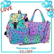 Geometric bolsas de mujer Fashion Luminous Hand Bag Crossbody Bag