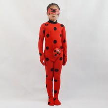 Adulte enfants Fantasia dame Cosplay Bug Costume Noir chat Noir ensemble complet déguisement d'halloween dame Spandex Marinette Bug Zentai Costume(China)