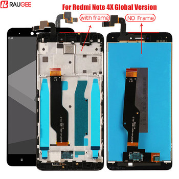 For Xiaomi Redmi Note 4X Snapdragon 625 Tested LCD Display+Touch Screen with Frame for Global Version Xiaomi Redmi Note 4 5.5''