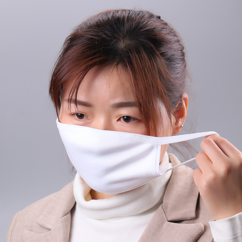 1PC White Three-Layer Cotton Mouth Mask Anti Haze Dust Washable Reusable Dustproof Mouth-Muffle Winter Warm Mask