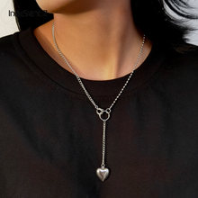Женское длинное ожерелье из нержавеющей стали ingesightz простое