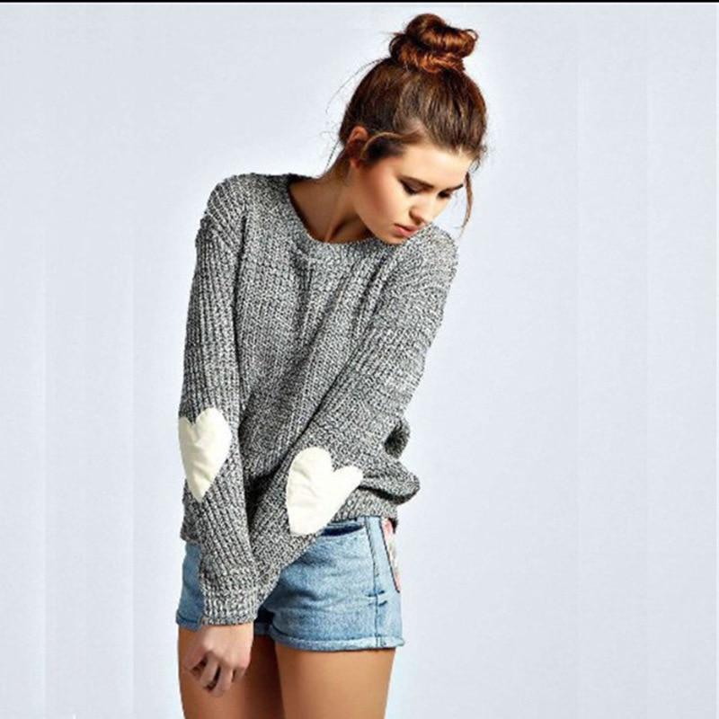 2019 Vintage Women Sweater Fashion Knitted Sweater Women O-neck Pullover Winter Loved Pull Female Knitwear Ladies Truien Dames