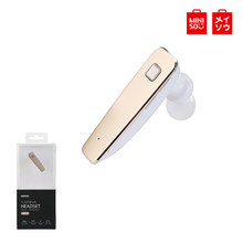 Miniso R6100 Single Nirkabel Bluetooth Headset Isi Ulang Headphone Sport Bisnis Earphone HD Kecerdasan Pengurangan Kebisingan(China)