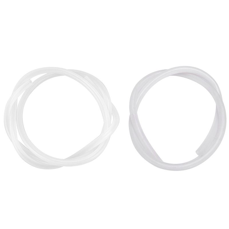 2Pcs 5mm ID x 7mm/9mm ID x 13mm OD Food Grade Flexible Hose Silicone Tubing 1M Clear image