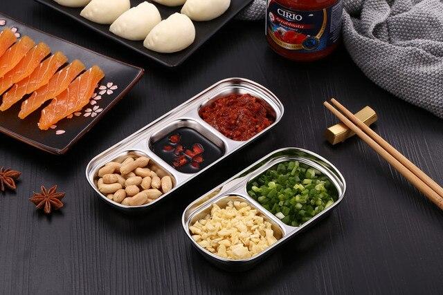 Фото дисковая кухонная тарелка из нержавеющей стали для барбекю суши
