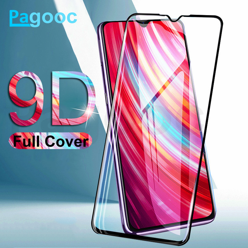 9D Curved Edge Tempered Glass On For Xiaomi Redmi 7 7A 8 8A K20 6 Pro 6A S2 Note 7 8 Pro Screen Protector Protective Glass Film