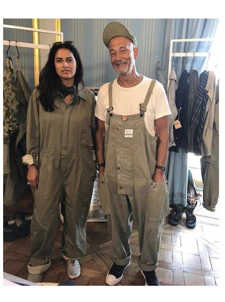 Multi-Pocket Bib Overalls Safari Style Men Hip Hop Streetwear Cargo Work Pants Coveralls Men's Casual Loose Pant Bib Trousers