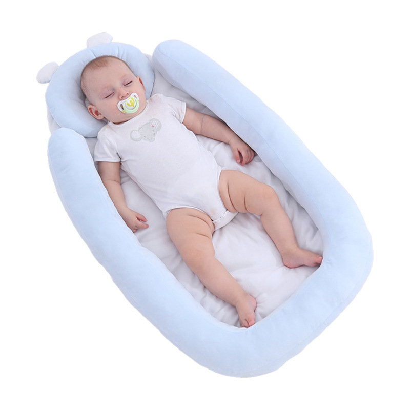 Infant portable bed in bed, baby go out sleeping mat bed, baby sleep bionic bed, baby nest Baby girl bedroom decoration 2021