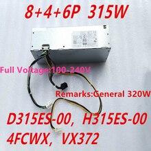 Nova FONTE de ALIMENTAÇÃO Para Dell OptiPlex 3020 9020 XE2 T1700 SFF 315W Power Supply D315ES 00 H315ES 00 4FCWX VX372 AC320EM 01 l255AS 00