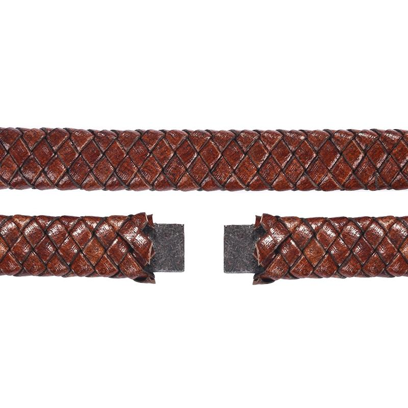 1 3 5M Genuine Leather Cord 12x6mm Red Brown Black Flat Braided Cord for Men Bracelet DIY Jewelry Making Accessories Wholesale in Jewelry Findings Components from Jewelry Accessories