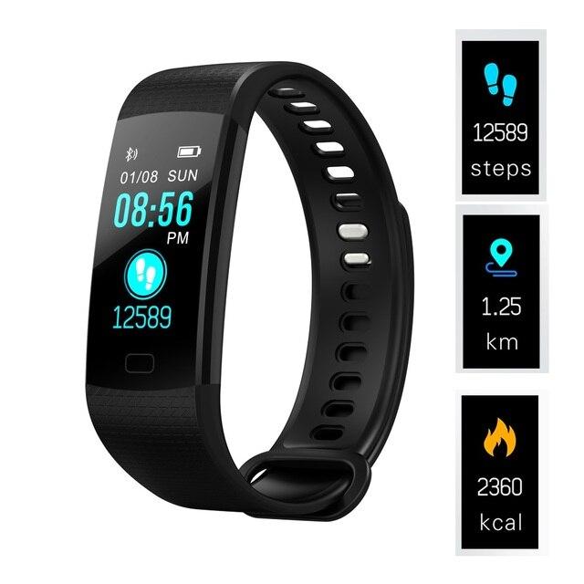الذكية معصمه عداد الخطى الذكية الفرقة ضغط الدم مراقب معدل ضربات القلب سوار لياقة بدنية النشاط ساعة تعقب ل IOS PK mi 3 4