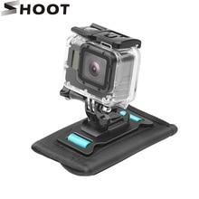 SHOOT 360 Degree Rotation Shoulder Strap Backpack Mount for GoPro Hero 7 6 5 Black Xiaomi Yi 4K SJCAM H9 Backpack Clip for GoPro 360 degree swivel gopro helmet side mount clip holder for gopro sjcam sj4000 xiaomi yi for sony aee action pov cameras